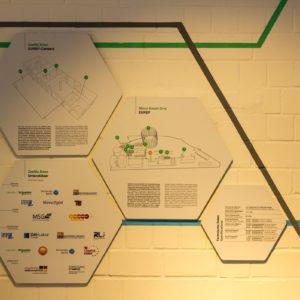 Schautafeln im Showroom erklären das Prinzip und die Funktionsweise des MSG   Foto: InnoZ