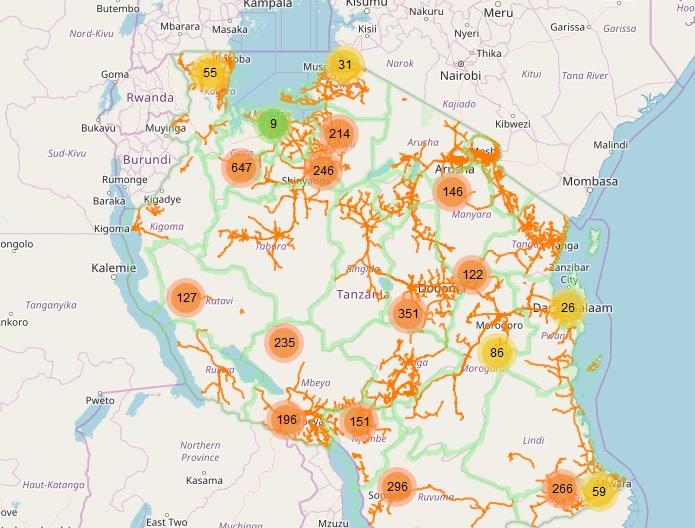 Web-Map Tanzania